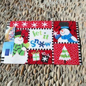 alfombra navidad goma antideslizante