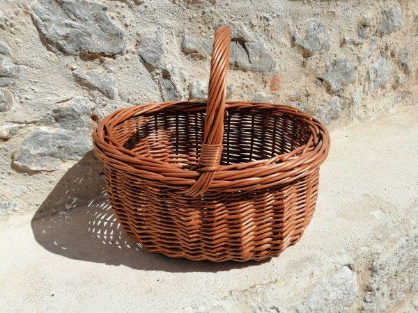 cesta mimbre setas