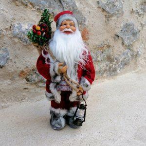 MUÑECO PAPÁ NOEL Decoración de adorno de Navidad, muñeco Papá Noel muy bonito y elegante. Medidas 30 cm aprox