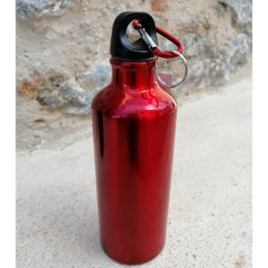 botella cantimplora roja