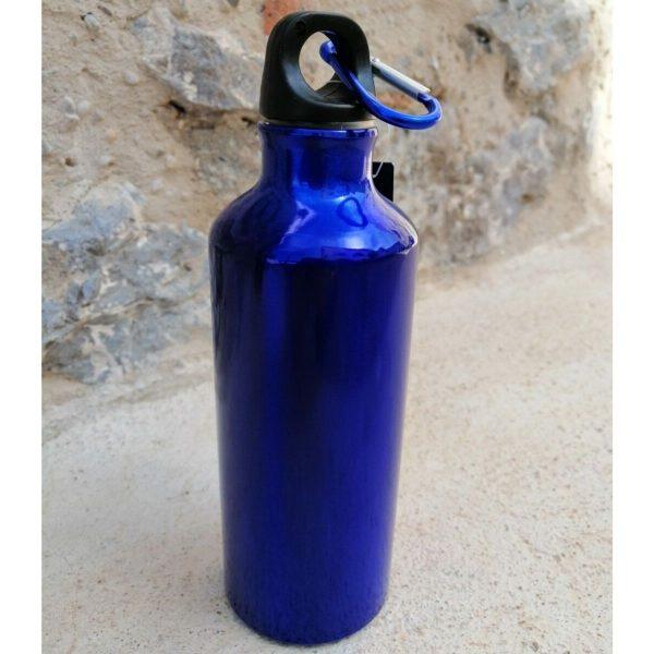 botella cantimplora azul