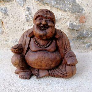 Buda feliz madera
