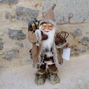 PAPÁ NOEL - SANTA CLAUS 30 CM Muñeco decorativo muy bonito y elegante, para Navidad.