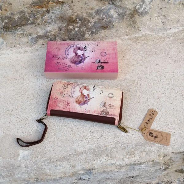 CARTERA MONEDERO SWEET CANDY Cartera para mujer, polipiel con dibujos, lleva cremallera y tarjetero . medidas apro. 11,5 x 21