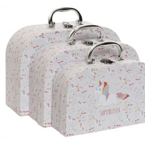 CAJA SET 3 CARTON METAL 28X20X95 SUPERLISTA ROSA