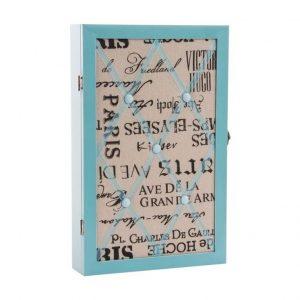 JOYERO MADERA 26X40X PARED AZUL Joyero madera caja para colgar 26x40x6 de color azul.